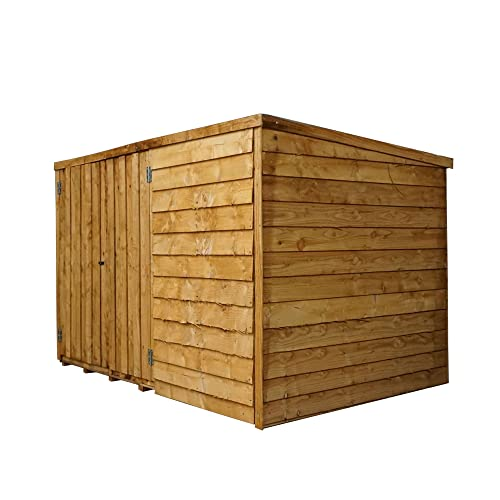 1878 4x6 Wooden Garden Storage Shed, Overlap Construction Dip Treated With  10
