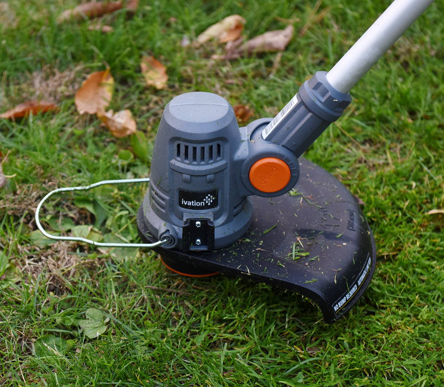 """Ivation 20V 2.0AH Cordless Grass String Trimmer & Edger """" Easy Feed - Includes Extra Battery Pack for Easy Cord-Free Trimming & Lawn Edging IVAGT20V"""