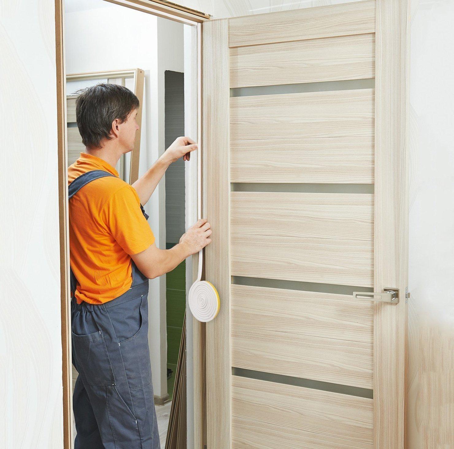 Door Window Weather Stripping Rubber Door Seal Strip Door Insulation Strip  Kit Weatherstrip Soundproofing For Doors Windows Winter Seal Adhesive Cars  Frame ...