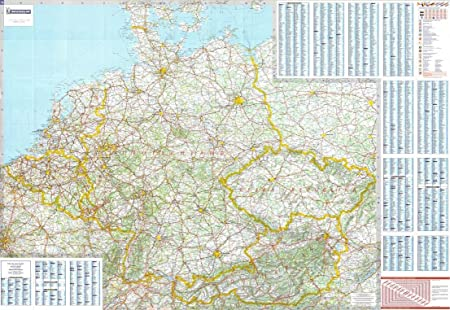 Road Map Of Germany And Austria.Michelin National Wall Map Of Germany Benelux Austria Czech Rep A
