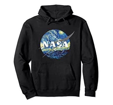 35ba02a9d1a Amazon.com  Nasa Starry Night Hoodie - Nasa Van Gogh Style Hoodie  Clothing