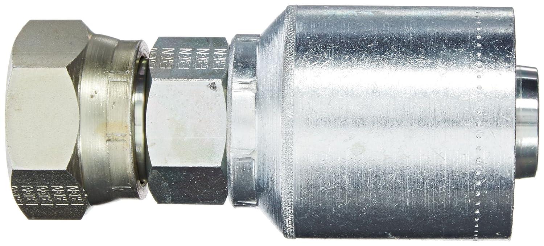 1//2 Hose ID EATON Weatherhead Coll-O-Crimp 43008U-22K 30 Degree Flare Female Swivel Fitting M22x1.5 Thread Size 1//2 Hose ID Low Carbon Steel Metric Thread