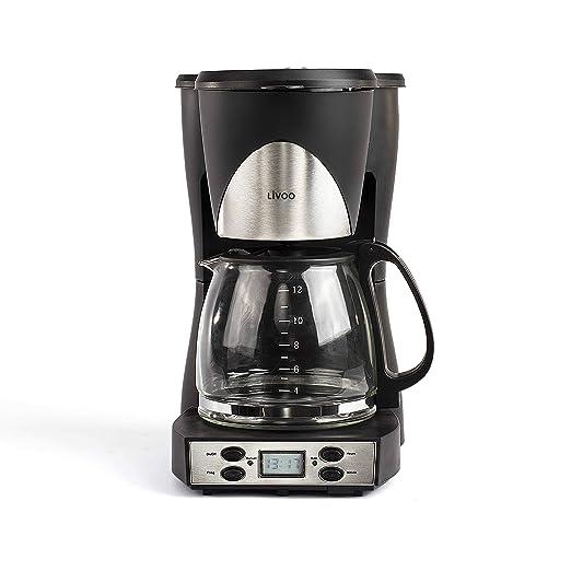 Domoclip dod145 cafetera eléctrica programable 12 T: Amazon ...