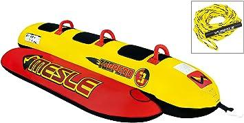 Mesle Skibob Package Torpedo 3, de tres personas Agua Plátano Incluye cuerda