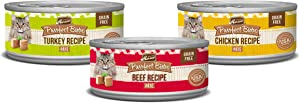 Merrick Purrfect Bistro Grain Free Wet Cat Food Variety Pack Poultry and Beef - (24) 3 oz. Cans