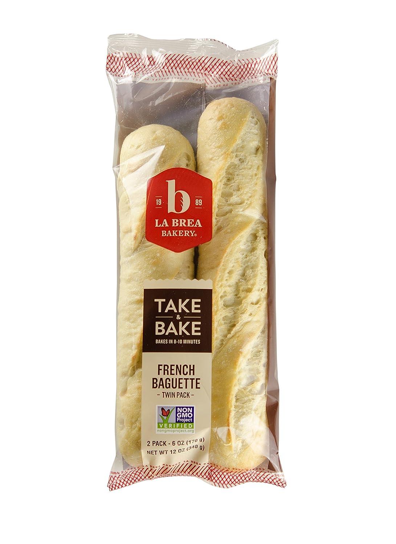 La Brea Bakery Take & Bake Twin Pack French Baguette, 6 oz (Frozen)