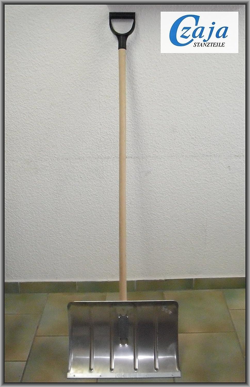 Pala da neve in alluminio con bordo rinforzato in acciaio e impugnatura a D Czaja Stanzteile