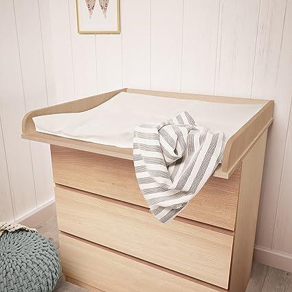 Polini Kids - Cambiador infantil en madera de haya para cómoda Malm de Ikea en diferentes