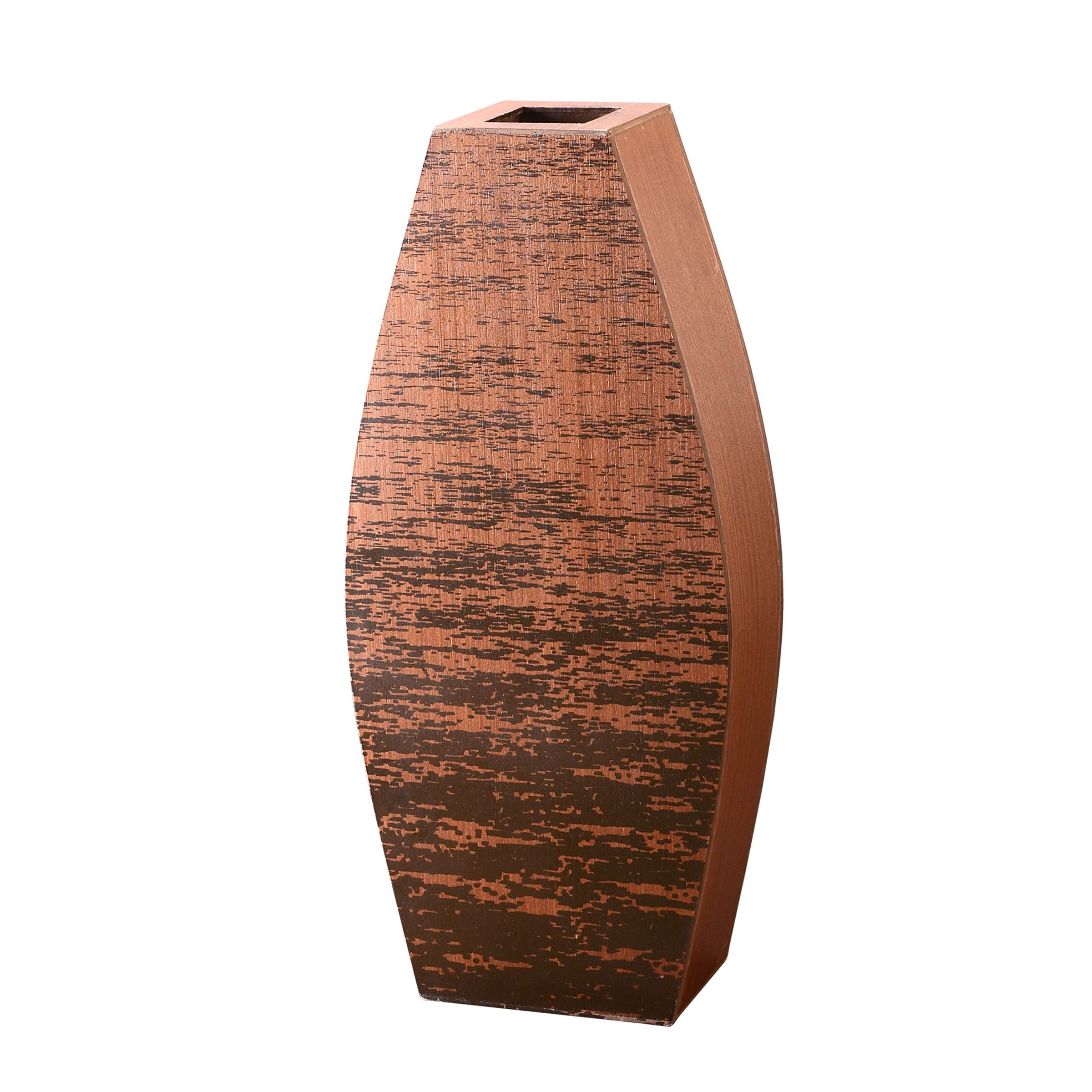 "CDM product Villacera Mango Wood 20"" Cylinder Floor Vase 