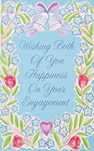 """Wishing Both Of You Happiness On Your Engagement - Congratulations Greeting Card - (Engaged Bride Groom To Be Wedding) """"You are so blessed to have the greatest gift of all... each other"""""""