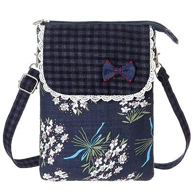 Amazon.com: AOCINA - Cartera de lona con diseño de flores ...