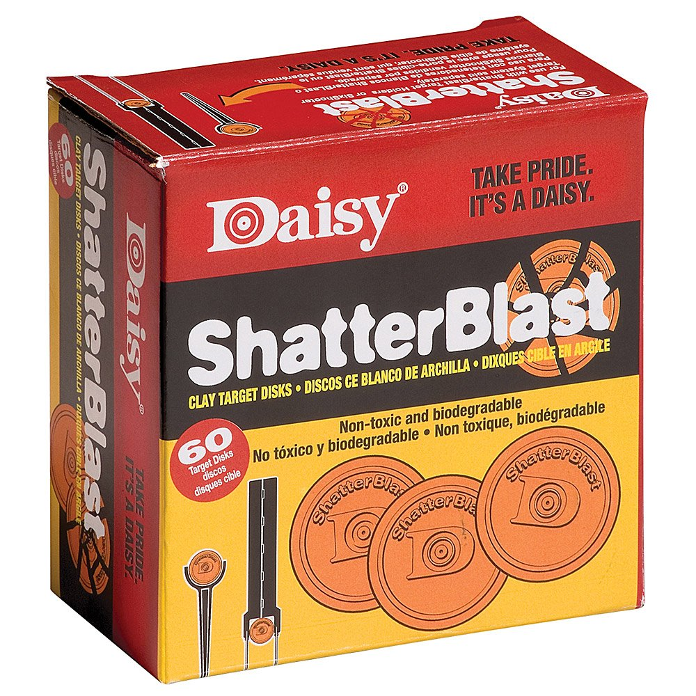 Daisy Shatterblast Breakable Refill Target 2'' Disks (60 Pack)