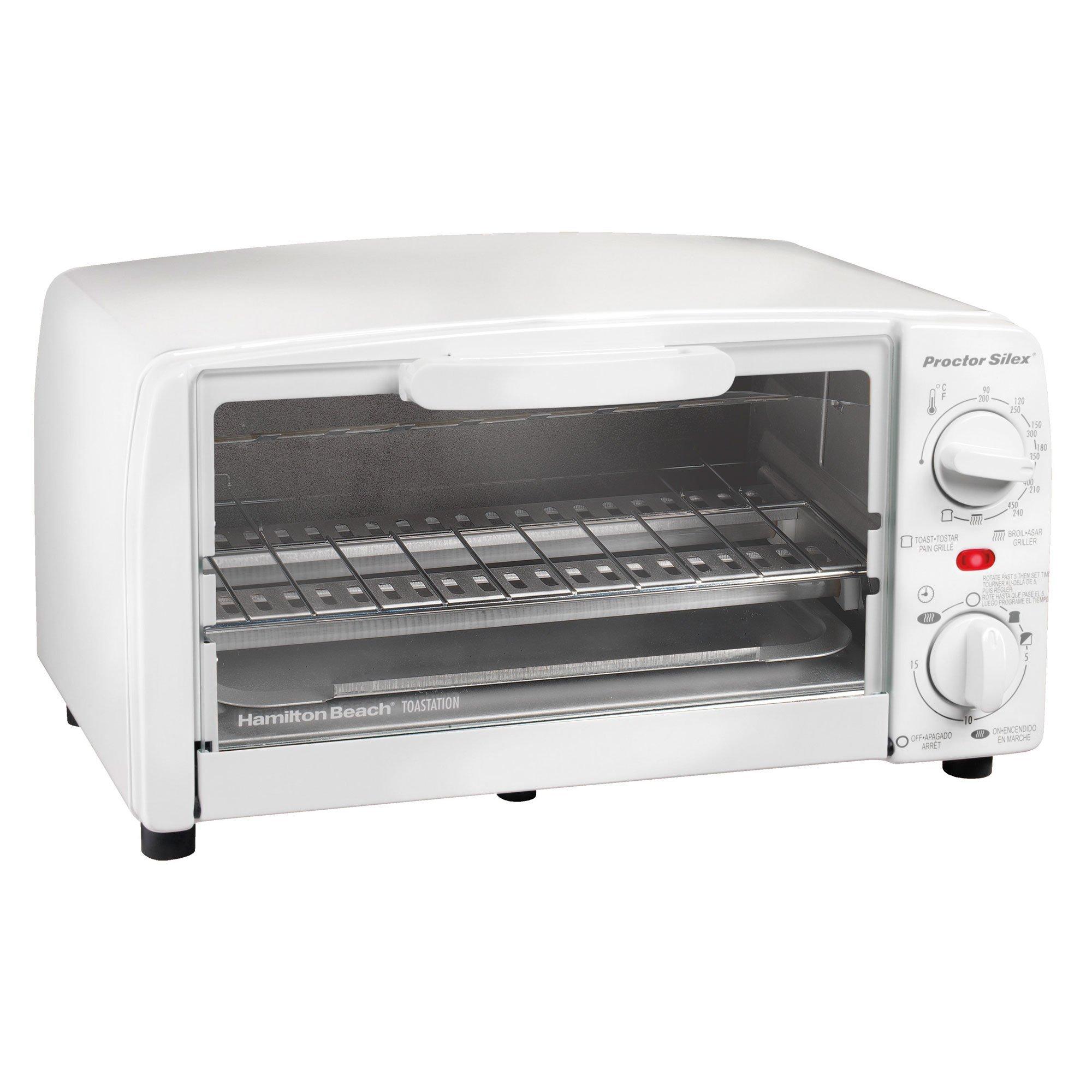 Proctor Silex 4 slice Toaster Oven, White by Proctor Silex