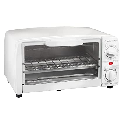 Amazon.com: Proctor Silex 4 slice Toaster Oven, White: Small ...