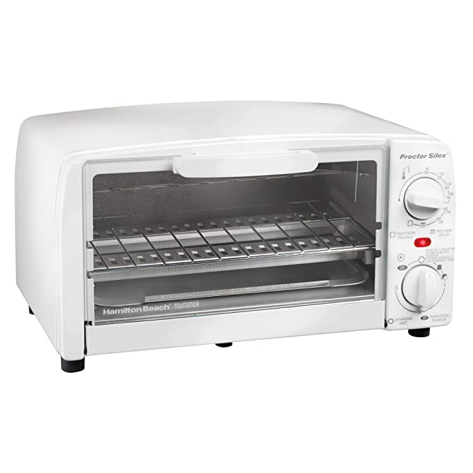 Proctor Silex 4 slice Toaster Oven, White