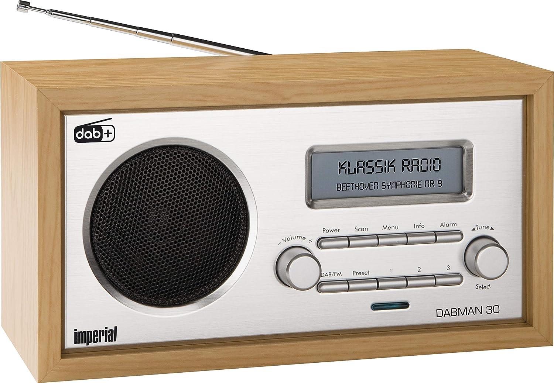 Telestar 16-16-16 Imperial Dabman 16 - Radio digital (DAB+/DAB/FM, entrada  auxiliar, incluye fuente de alimentación), color marrón [Importado de
