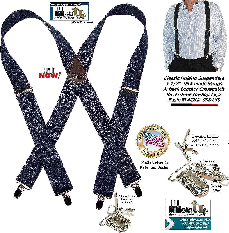 "Set of 2-1/"" Dress Suspenders X-Back Locking Pin Adjustable"
