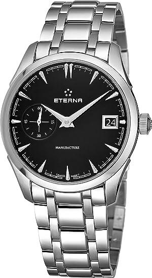 Reloj Automático Eterna Heritage 1948 Legacy Small, Eterna 3903A, 41,5mm, Negro: Amazon.es: Relojes