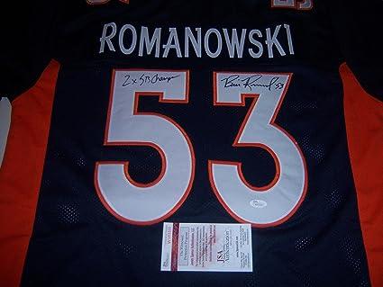 New Bill Romanowski Denver Broncos 2x Super Bowl Champjsacoa Signed  for sale