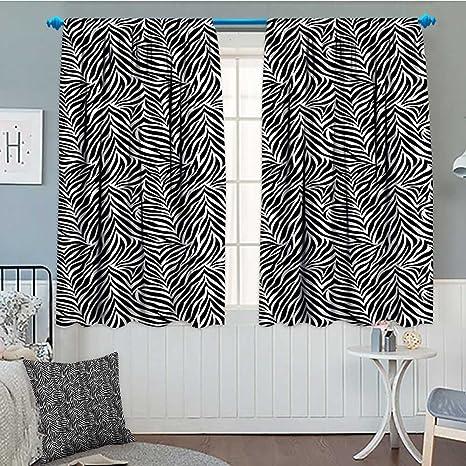 SeptSonne-Home Zebra Print Decor Collection Window Curtain Drape Animal  Print Zebra Pattern Fashionable Trendy Decorating Illustration Decorative  ...