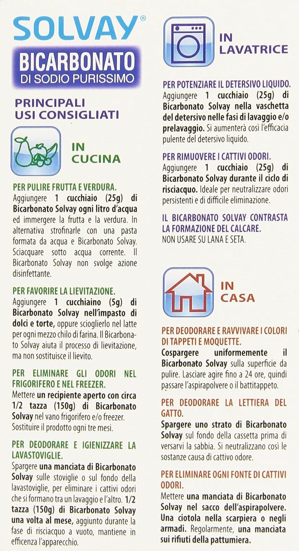 Solvay Bicarbonato Di Sodio Ad Uso Alimentare 500 G Amazon It