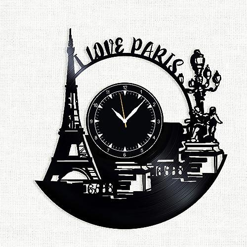 SofiClock Paris Vinyl Record Wall Clock 12 , The Best Gift Decor