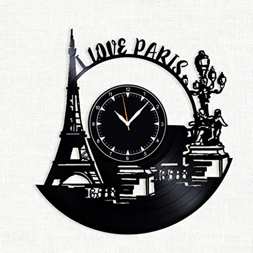 SofiClock Paris Vinyl Record Wall Clock 12 , The Best Gift Decor