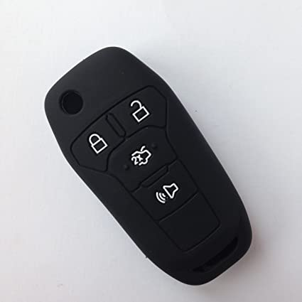 Black Silicone Fob Skin Cover For  Ford Fusion Ford Explorer Ford Edge Flip Keyless Entry