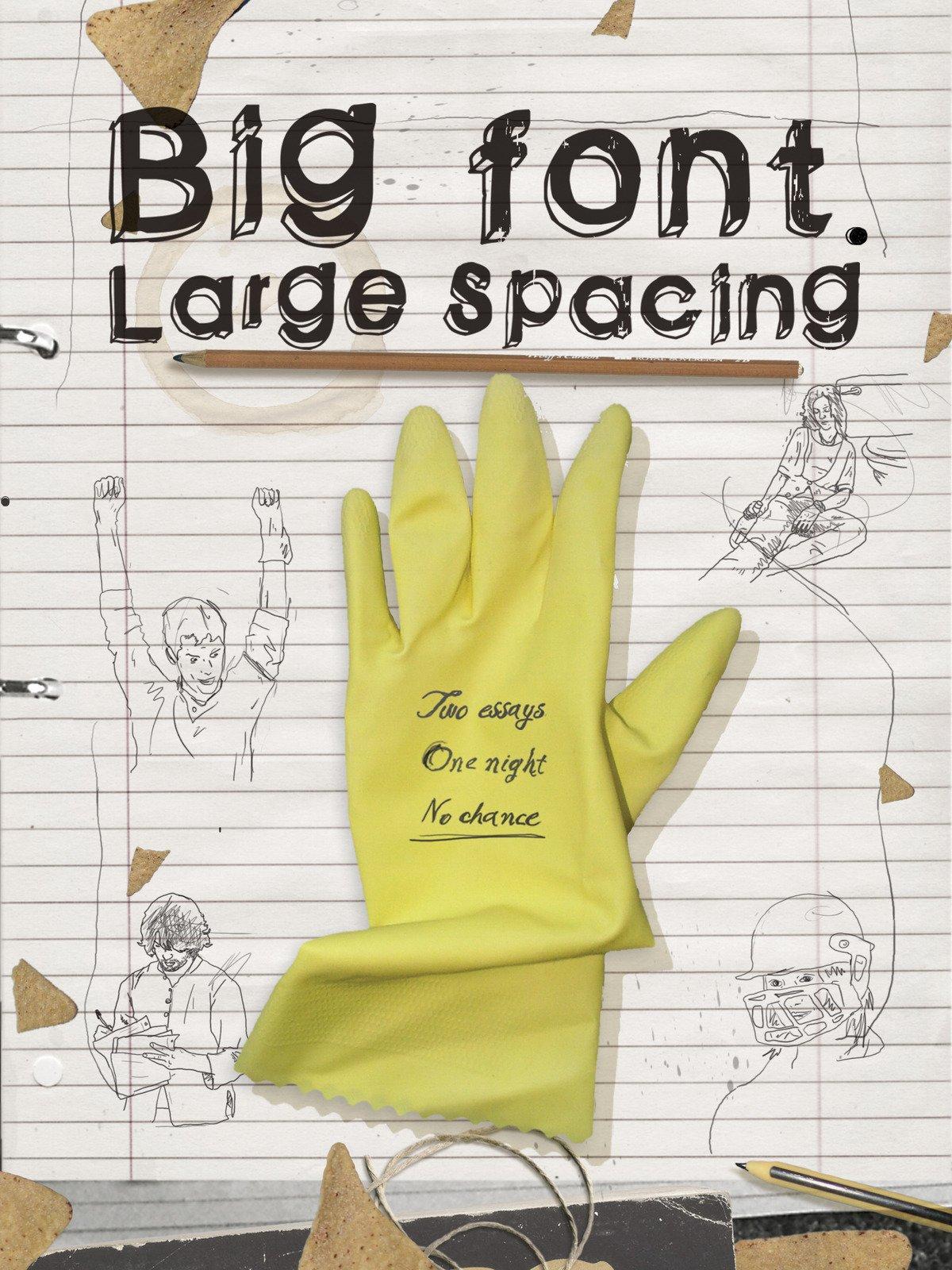 Big Font. Large Spacing on Amazon Prime Video UK