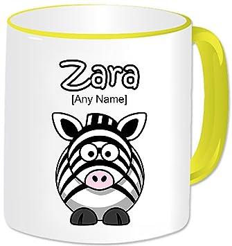 Personalizado Regalo Animal Funny Zebra ml de café taza. Cualquier nombre de cualquier mensaje.