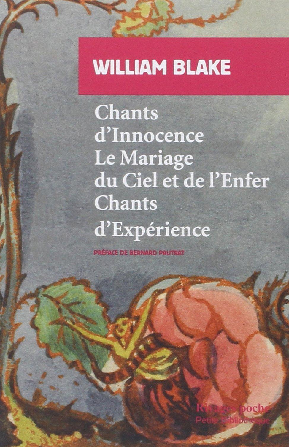 amazonfr chants dinnocence et dexprience william blake livres - Chant D Envoi Mariage
