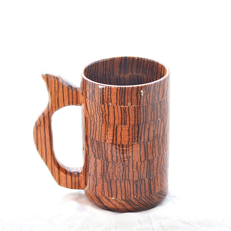 Amazoncom 20 Ounce Zebra Wood Mug Wooden Beer Mug Wood Beer