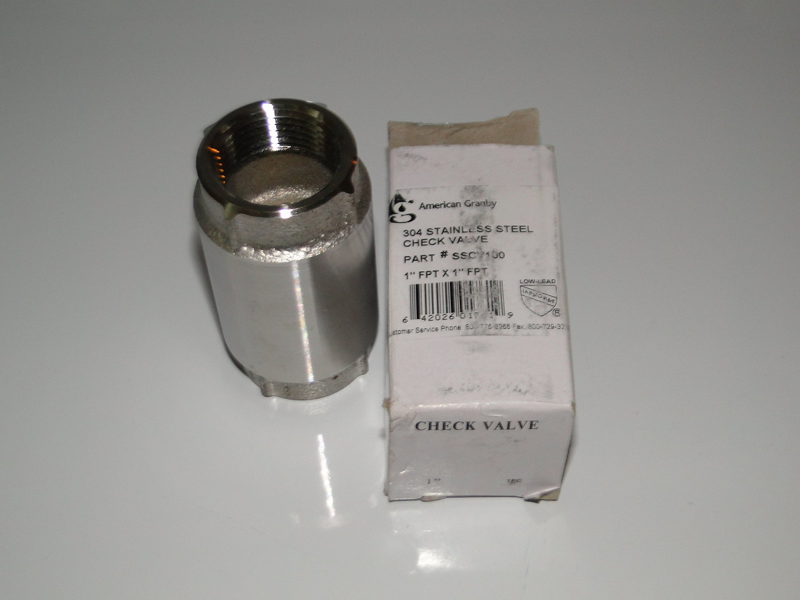 AMERICAN GRANBY HARVARD 1.25'' STAINLESS STEEL CHECK VALVE for WATER WELL PUMP Pressure TANK SSCV125