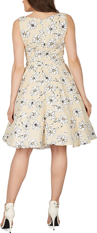 BlackButterfly 'Audrey' Daisy Vintage Rockabilly Floral Tea Dress:  Amazon.co.uk: Clothing