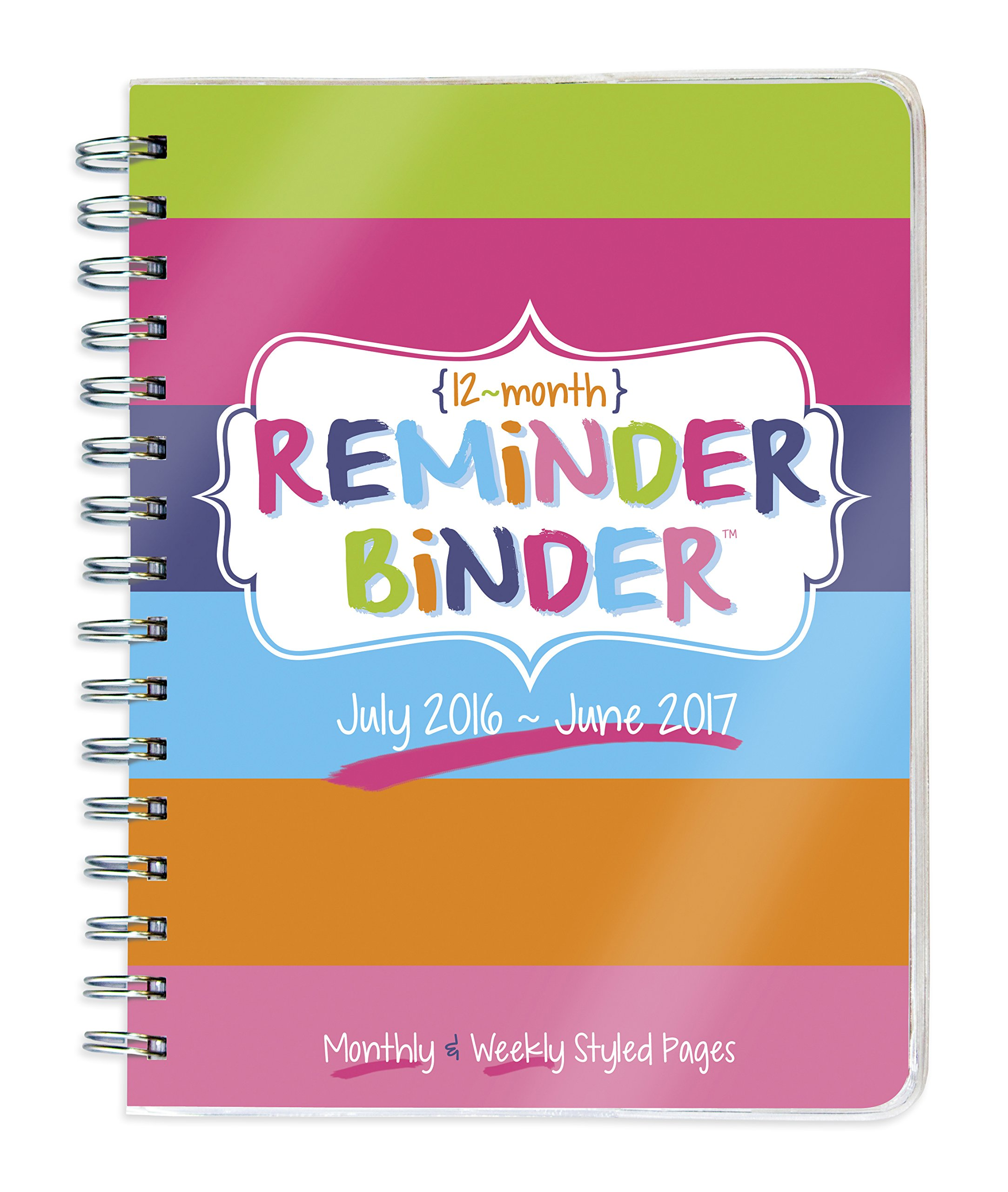 2017 Academic Year Reminder Binder Spiral Engagement Planner