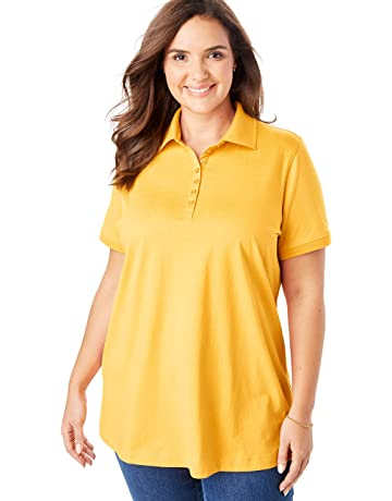 34d77e32 Woman Within Women's Plus Size Perfect Polo Shirt