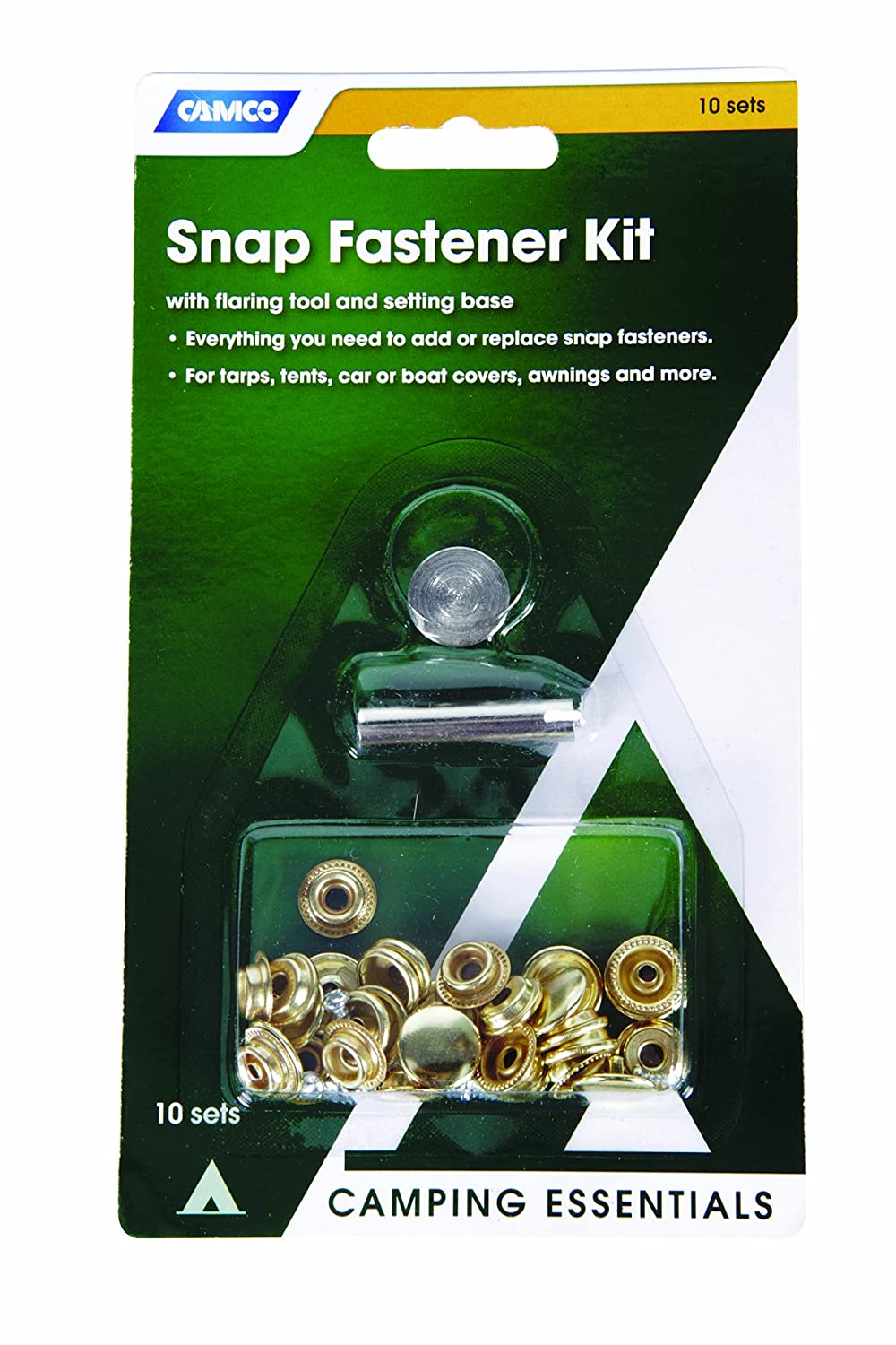 10 pack Camco 51006 Snap Fastener Kit with Flaring Tool