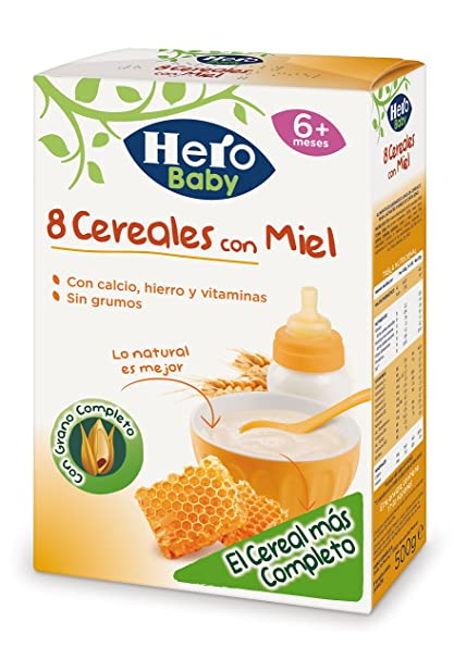 Hero Babynatur 8 Cereales Miel