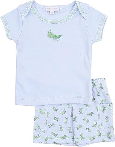 Magnolia Baby Baby Boy to a Tee Emb Short Set Blue
