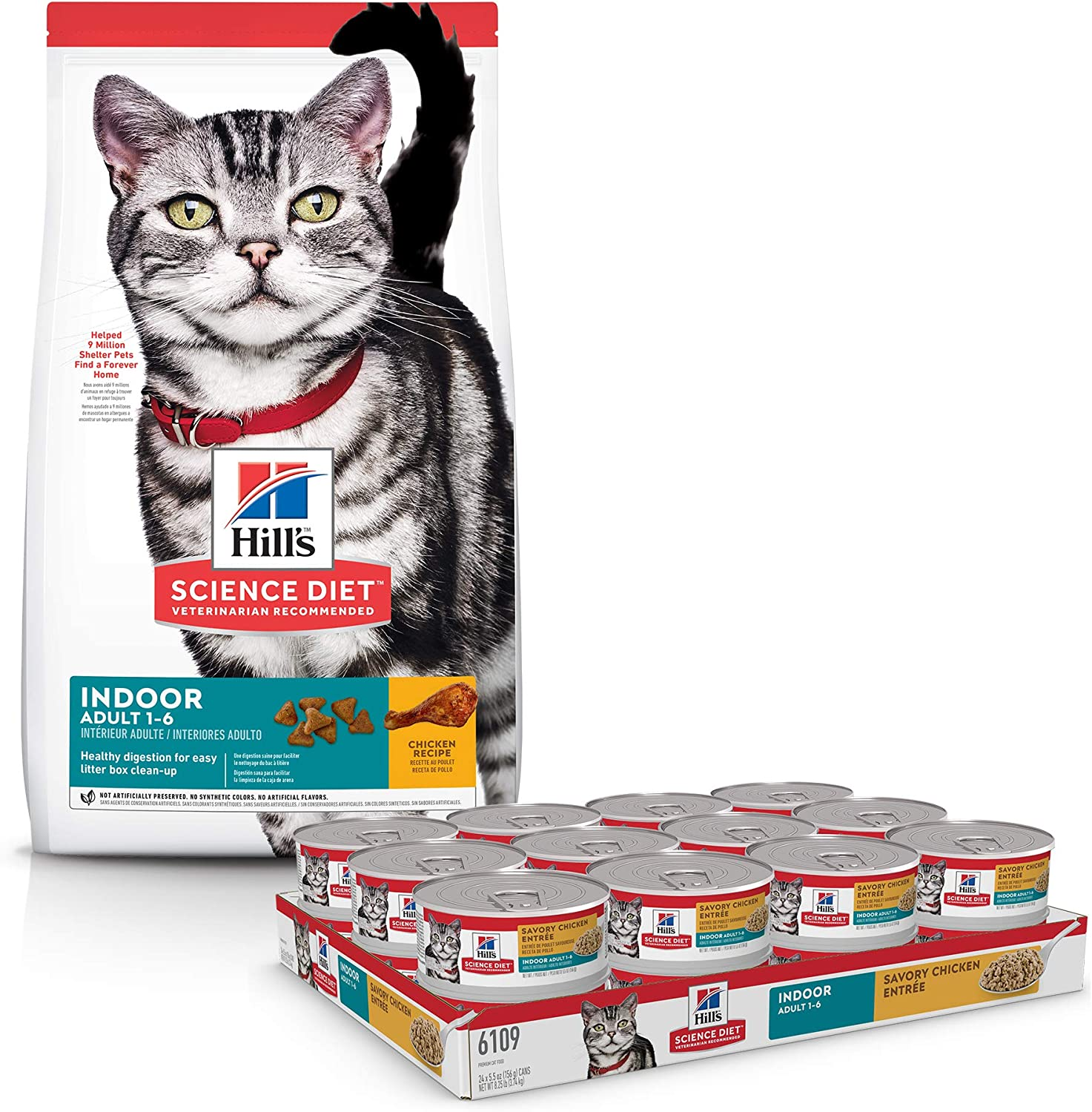 Dry Cat Food, For Adult Indoor Cats, Chicken Recipe