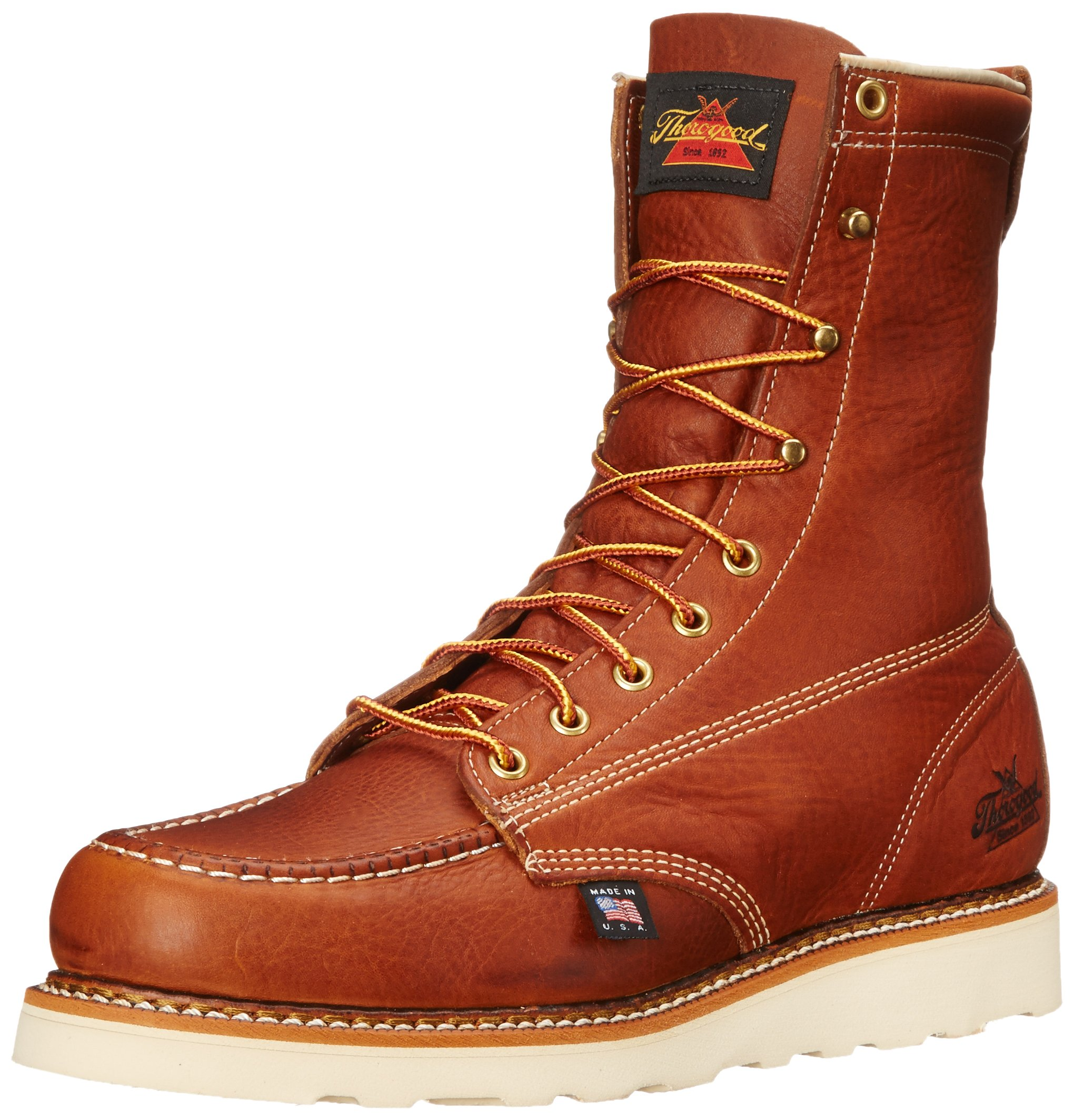Thorogood American Heritage 8'' Moc Toe Boot, Tobacco Gladiator, 10 D US