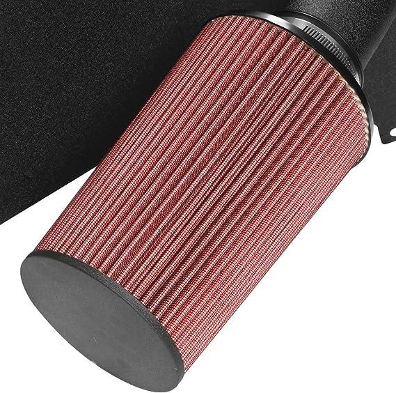 DNA MOTORING DNAMotoring AIP-2-HS-TTUN0047L-BKBK AIP2HSTTUN0047LBKBK Cold Air Intake Pipe+Heat Shield System for 00-03 Tundra Sequoia 4.7L