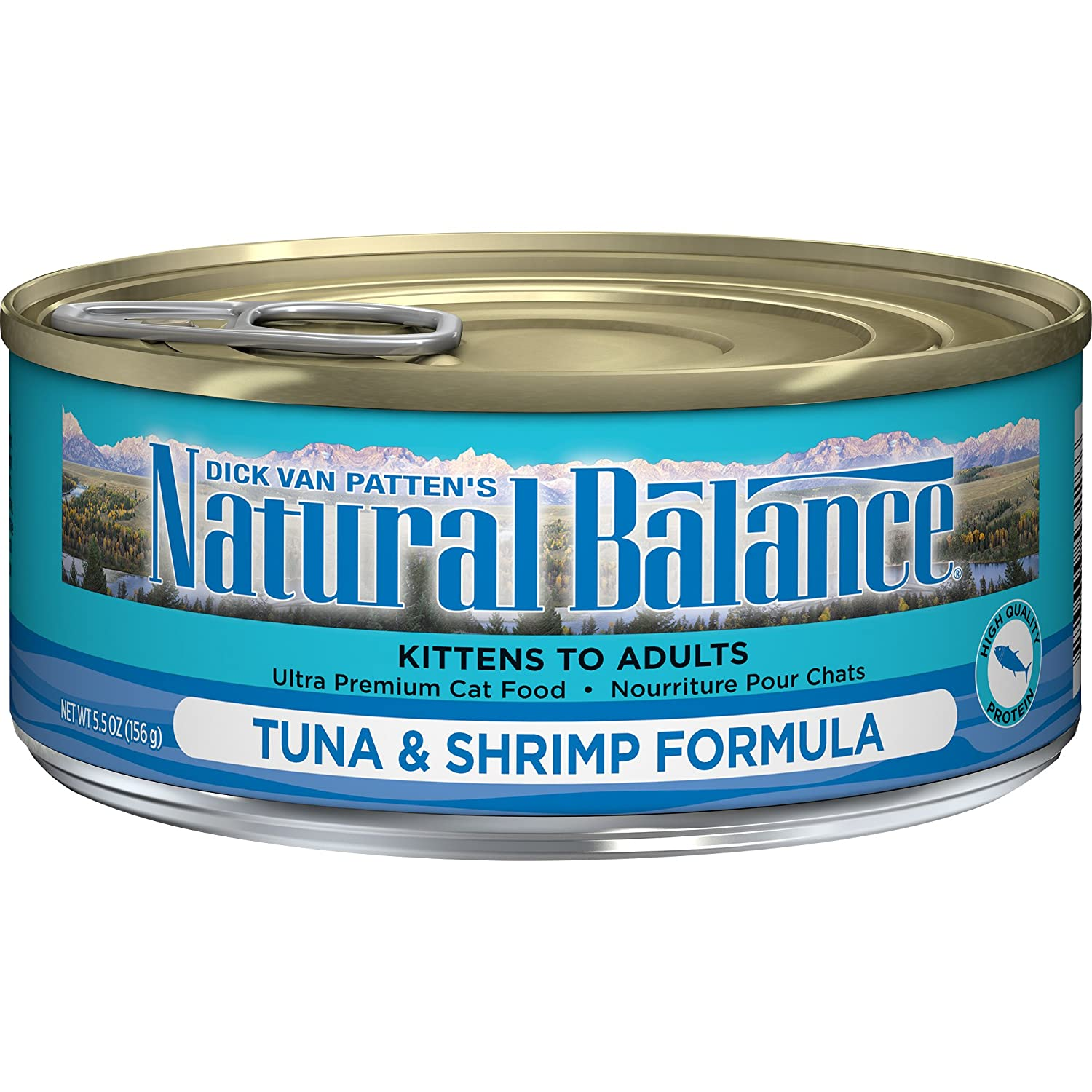 Natural Balance Tuna with Shrimp Formula Wet Cat Food 5.5-Ounce Can (Pack of 24)