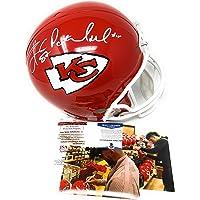 $449 » Patrick Mahomes Travis Kelce Kansas City Chiefs DUAL Signed Autograph Full Size Helmet BGS JSA Witnessed Dual Certified