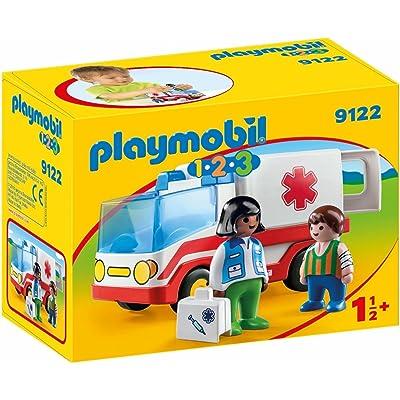 PLAYMOBIL Rescue Ambulance Building Set: Toys & Games