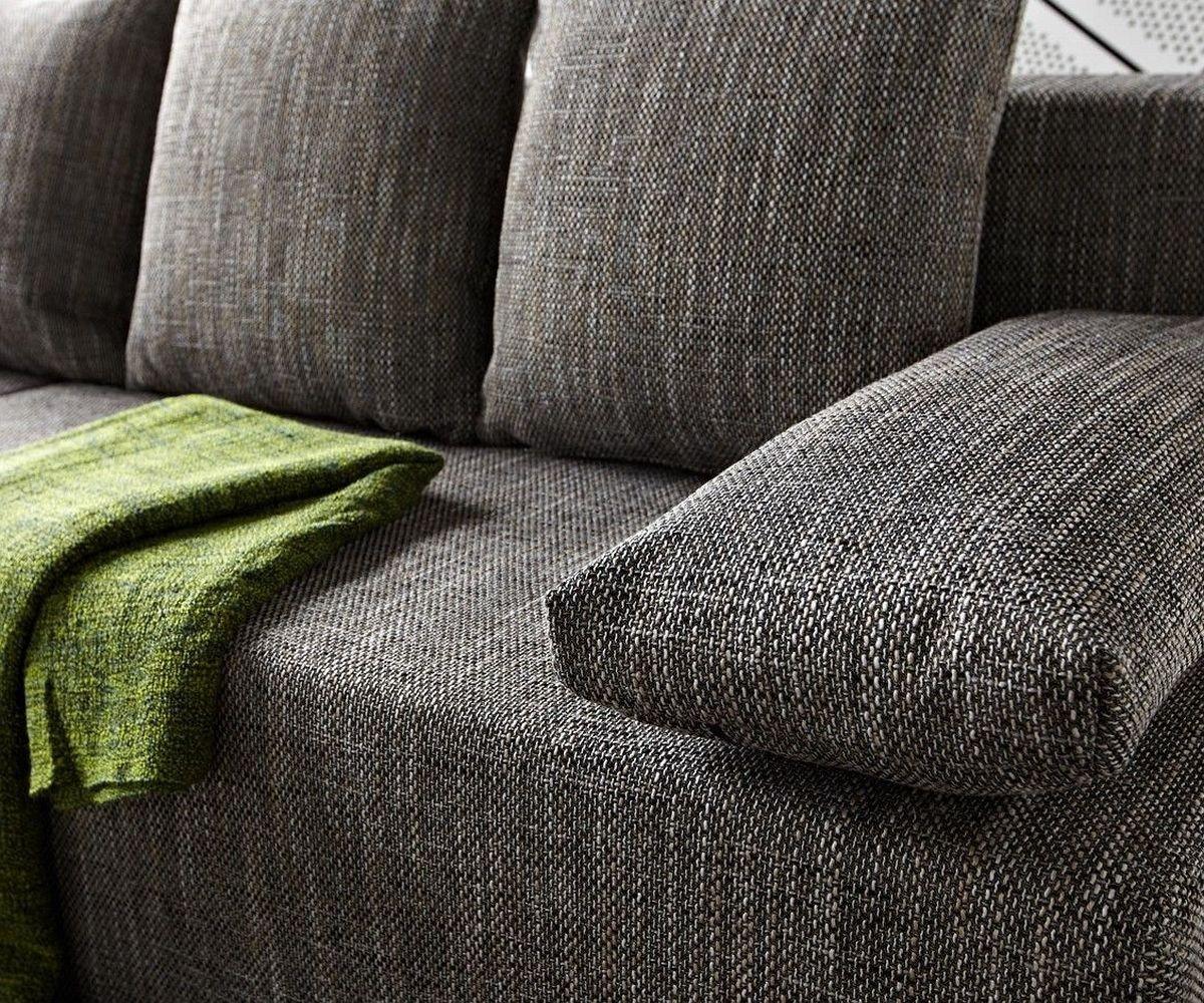 Faszinierend Ecksofa Schlaffunktion Grau Das Beste Von Delife Couch Janelle 200x155 Mit Ottomane Variabel