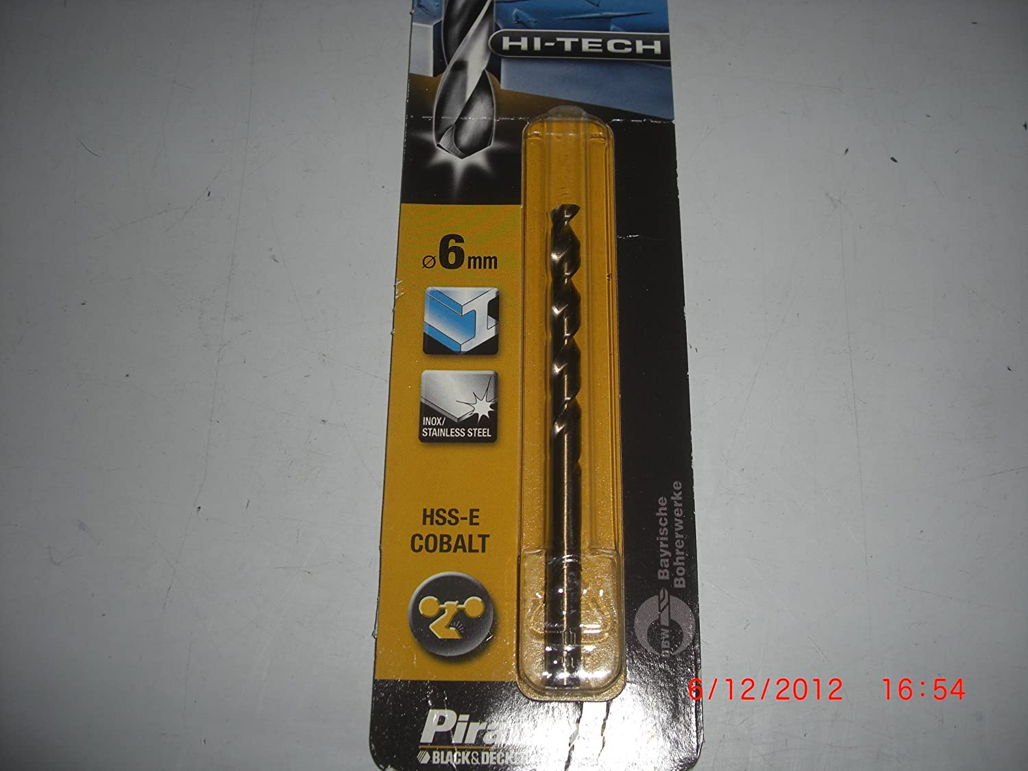 Piranha Hi-Tech 1/ Piece 3/ mm X50082/ QZ Metal Drill Bit HSS-E Cobalt