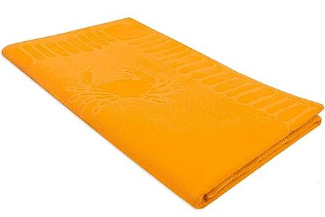 ZOLLNER Toalla de Playa Grande, 100x200 cm, algodón, Amarilla