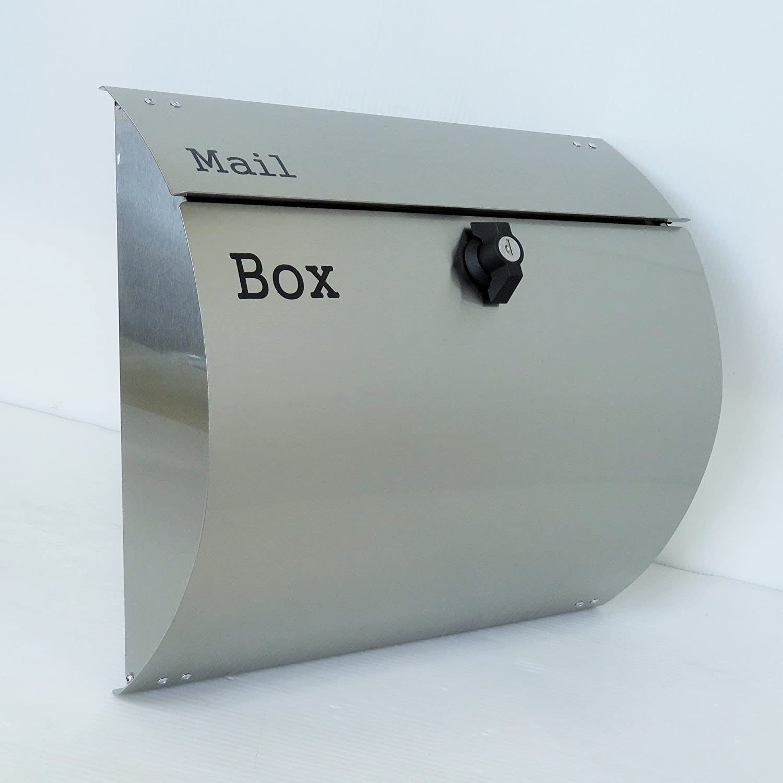 郵便ポスト郵便受けメールボックス壁掛けシルバーステンレス色プレミアムステンレスポストpm062-1 B018NNYHHW 10880