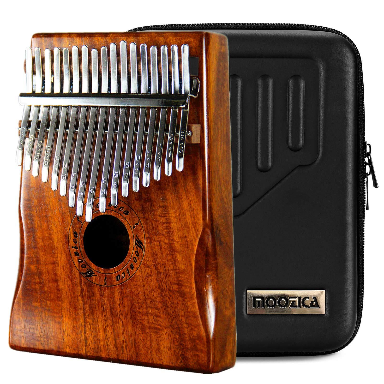 Moozica 17 Key Kalimba, High Quality Professional Finger Thumb Piano Marimba Musical Gift (Acacia Koa-K17K)